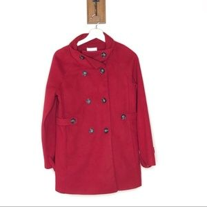 Forever 21 red cowl neck double breasted pea coat